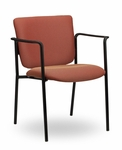 Monterey II 300 Series Stackable Multipurpose Guest Chair with Arms and Black Frame [MO244-FS-SEA]