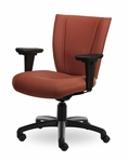 Monterey II 400 Series Medium Back Multiple Shift Adjustable Swivel and Seat Height Task Chair [MO311-Q30-FS-SEA]