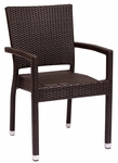 Monterey Stackable Arm Chair Java Wicker [PH501CJV-BFMS]