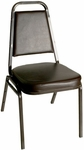 Montour Stacking Chair - Black Frame and 2'' Thick Black Vinyl Seat [DC2082-BL-BL-BFMS]