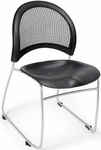 Moon Plastic Stack Chair - Black [335-P-BLK-MFO]