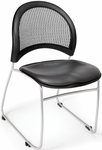 Moon Stack Chair with Vinyl Seat Cushion - Charcoal [335-VAM-604-MFO]