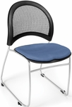 Moon Stack Chair with Fabric Seat Cushion - Colonial Blue [335-2204-MFO]