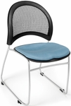 Moon Stack Chair with Fabric Seat Cushion - Cornflower Blue [335-2206-MFO]