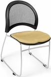 Moon Stack Chair with Fabric Seat Cushion - Golden Flax [335-2205-MFO]