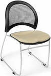 Moon Stack Chair with Fabric Seat Cushion - Khaki [335-2209-MFO]