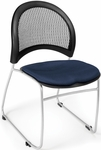 Moon Stack Chair with Fabric Seat Cushion - Navy [335-2203-MFO]