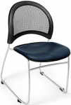Moon Stack Chair with Vinyl Seat Cushion - Navy [335-VAM-605-MFO]