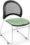 Moon Stack Chair with Fabric Seat Cushion - Sage Green [335-2207-MFO]