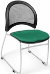 Moon Stack Chair with Fabric Seat Cushion - Shamrock Green [335-2201-MFO]