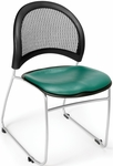 Moon Stack Chair with Vinyl Seat Cushion - Teal [335-VAM-602-MFO]
