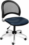 Moon Swivel Chair with Vinyl Seat - Navy [336-VAM-605-FS-MFO]