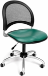 Moon Swivel Chair with Vinyl Seat - Teal [336-VAM-602-FS-MFO]