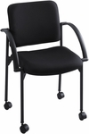 Moto™ 23.5'' W x 31.75'' H Stack Chair - Set of Two - Black [4184BL-SAF]