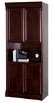 kathy ireland Home™ Mount View Collection 33.5''W x 79''H 4 Door Bookcase - Cobblestone Cherry [MV3479D-FS-KIMF]
