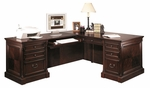 kathy ireland Home™ Mount View Collection L Shaped Workstation with Left Return - Cobblestone Cherry [MV664L-MV664L-R-FS-KIMF]
