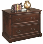 kathy ireland Home™ Mount View Collection 39.25''W x 30''H Two Drawer Lateral File - Cobblestone Cherry [MV450-FS-KIMF]