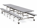 MTB Series Mobile Folding Bench Table with 17''H Bench Seating - 30''W x 144''D x 29''H [MTB172912-VCO]