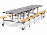 MTS Series Mobile Folding Table with 17''H Stools - Seats 12 - 58''W x 120''D x 29''H [MTS17291012-VCO]
