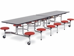 MTS Series Mobile Folding Table with 15''H Stools - Seats 12 - 58''W x 144''D x 27''H [MTS15271212-VCO]