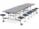 MTS Series Mobile Folding Table with 17''H Stools - Seats 12 - 58''W x 144''D x 29''H [MTS17291212-VCO]