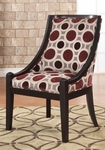 Mulberry & Grey High Back Accent Chair, 20-1/2'' Seat Height [502-822-FS-PO]