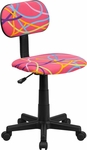 Multi-Colored Swirl Printed Pink Swivel Task Chair [BT-OLY-GG]