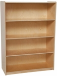 Wooden 4 Fixed Shelf Bookcase with Plywood Back - 36''W x 15''D x 49''H [12900-WDD]