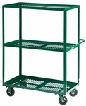 Nursery Welded Truck with 3 Perforated Shelves - 24''W x 48''D [3MLP-2448-6MR-G-LGC]