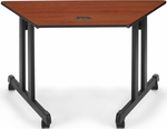 46.25'' W x 23'' D Trapezoid Table - Cherry Top [55248-CHY-BLK-FS-MFO]