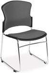 Multi-Use Stack Chair with Fabric Seat and Back - Gray [310-F-801-MFO]