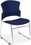 Multi-Use Stack Chair with Fabric Seat and Back - Navy [310-F-804-MFO]