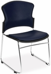 Multi-Use Stack Chair with Anti-Microbial and Anti-Bacterial Vinyl Seat and Back - Navy [310-VAM-605-MFO]
