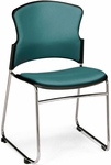 Multi-Use Stack Chair with Anti-Microbial and Anti-Bacterial Vinyl Seat and Back - Teal [310-VAM-602-MFO]
