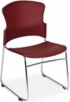 Multi-Use Stack Chair with Plastic Seat and Back - Wine [310-P-A10-MFO]