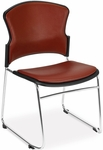 Multi-Use Stack Chair with Anti-Microbial and Anti-Bacterial Vinyl Seat and Back - Wine [310-VAM-603-MFO]