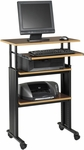 Muv™ 29.5'' W x 22'' D x 35'' H Stand Up Adjustable Height Desk - Cherry [1929CY-FS-SAF]