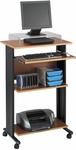 Muv™ 29.5'' W x 22'' D x 45'' H Stand Up Office Desk - Cherry [1923CY-FS-SAF]