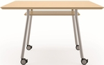 Mystic Series 36'' Square Conference Table with Shelf And Casters [S1736J4-FS-RO]