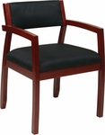OSP Furniture Napa Guest Chair with Upholstered Back - Cherry [NAP95CHY-FS-OS]