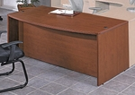 OSP Furniture Napa Scratch Resistant 72'' Bow Top Desk [NAPTYP1-FS-OS]