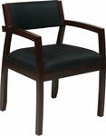 OSP Furniture Napa Guest Chair with Upholstered Back - Espresso [NAP95ESP-FS-OS]
