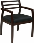 OSP Furniture Napa Guest Chair with Wood Back - Espresso [NAP91ESP-3-FS-OS]