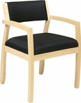 OSP Furniture Napa Guest Chair with Upholstered Back - Maple [NAP95MPL-FS-OS]