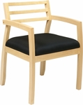 OSP Furniture Napa Guest Chair with Wood Back - Maple [NAP91MPL-3-FS-OS]