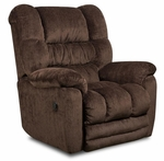 Napa Transitional Style Polyester Power Recliner - Temptation Mahogany [189560-6452-PWR-FS-CHEL]
