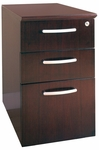 Napoli 14.25'' W x 21.25'' D x 26'' H Box File Pedestal - Mahogany on Walnut Veneer [NBBFMAH-FS-MAY]