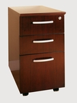 Napoli and Corsica Mobile Box-Box-File Desk Pedestal - Sierra Cherry on Cherry Veneer [VBBFCRY-FS-MAY]