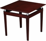 Napoli 24'' Square End Table - Sierra Cherry on Cherry Veneer [NTSCRY-FS-MAY]