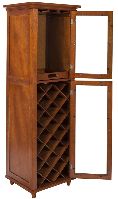 Napoli iv wine cabinet elg 711 by elegant home fashions for Capital one kitchen cabinets